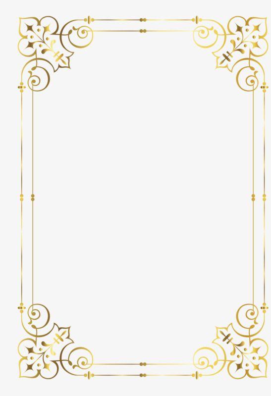 Gold Frame, Frame Clipart, Golden, Frame PNG Transparent.