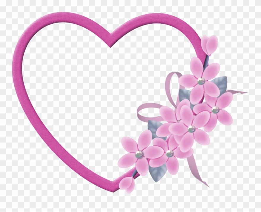 Moldura Coração Dia Das Mães Png Clipart (#204778).