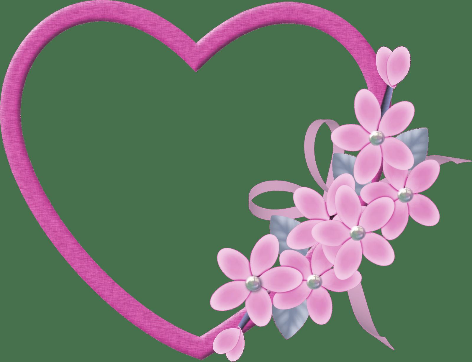 Moldura Coração Dia Das Mães Png Clipart.