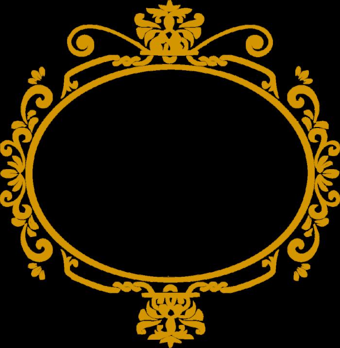Moldura ProvenCAal Dourada Png Vector, Clipart, PSD.