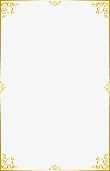 Linda Moldura Dourada, Golden, Excelente, Moldura PNG e.