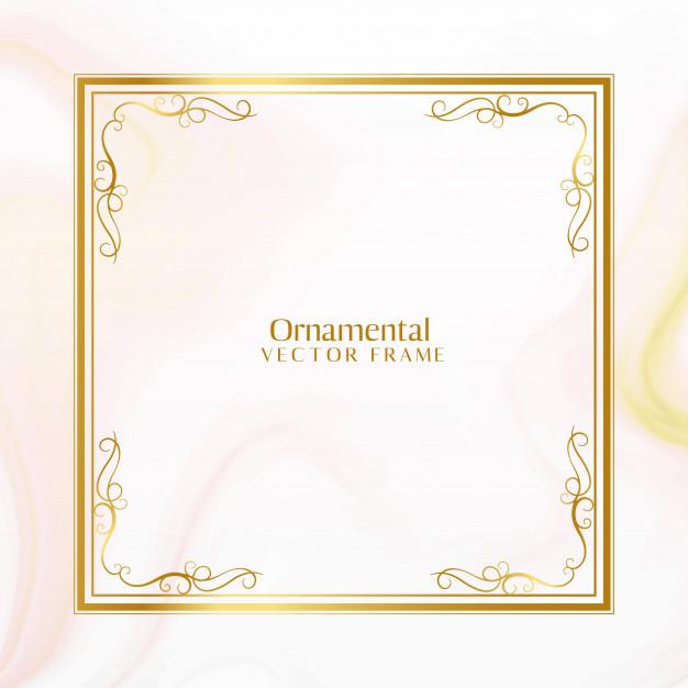 Impressionante design de moldura ornamental dourada.