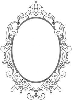 Moldura oval.