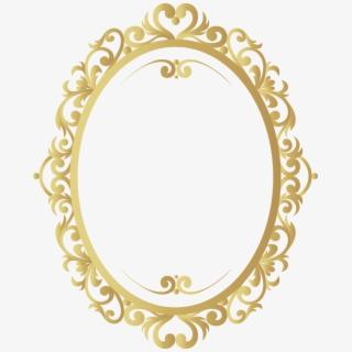 Moldura Oval Ornamentais Vetor Clip.