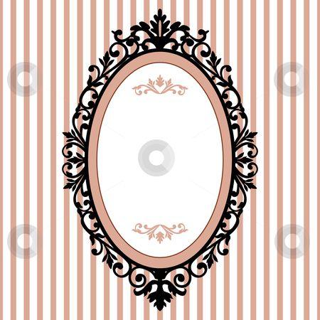 Princess Oval Frame Clip Art.