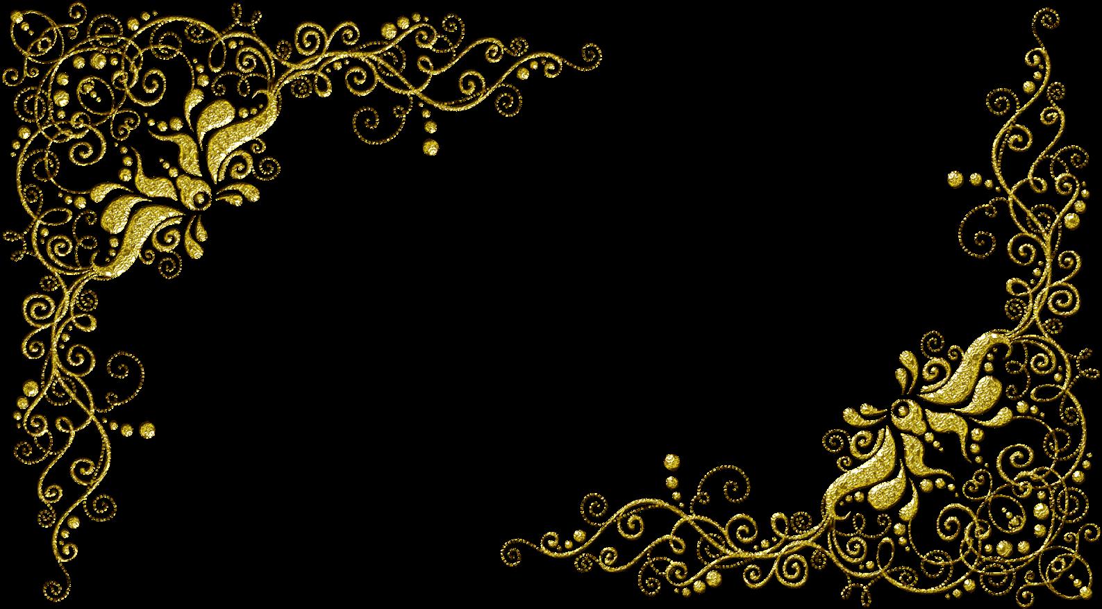 Molduras Com Arabescos Dourados.