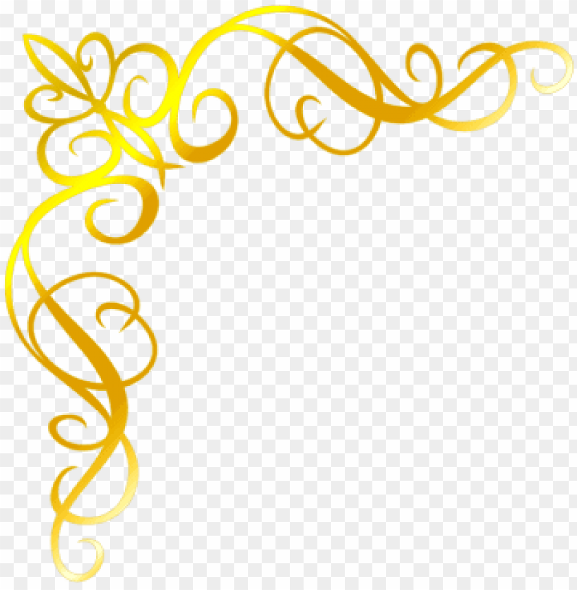 moldura arabesco convite png dourado.