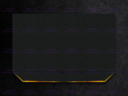 Clean and Simple Facecam Overlay.