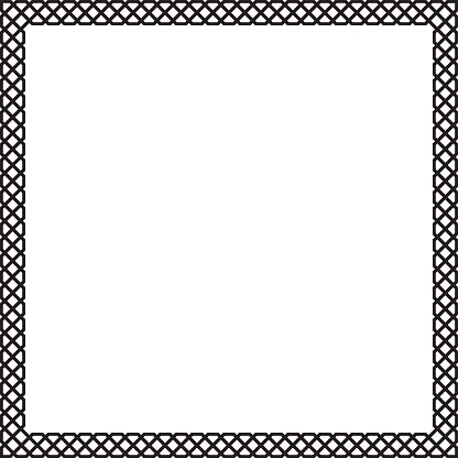 Decorative Black Square Frame, Arabic premium clipart.