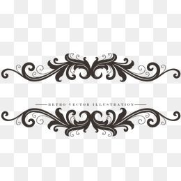Continental Black Border, Frame, Beautiful, Lace PNG.