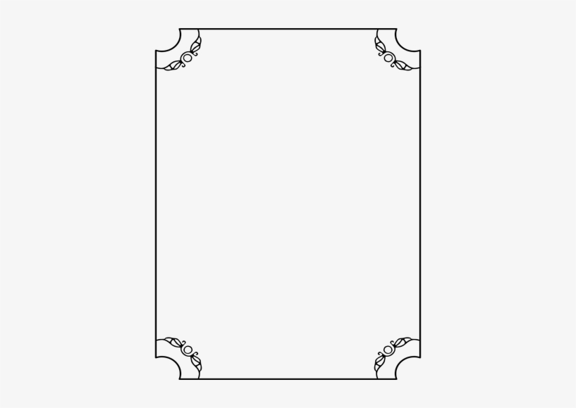 Thin Line Border With Decorative Corners Clipart.