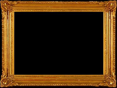 Moldura quadro dourada png 2 » PNG Image.