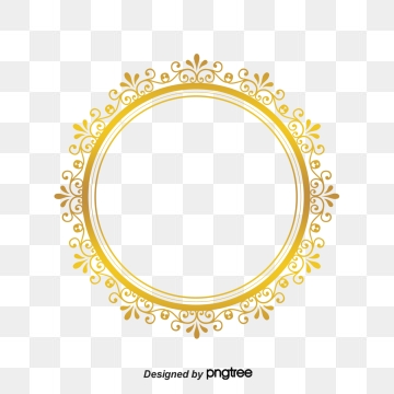 moldura redonda dourada png 10 free Cliparts.