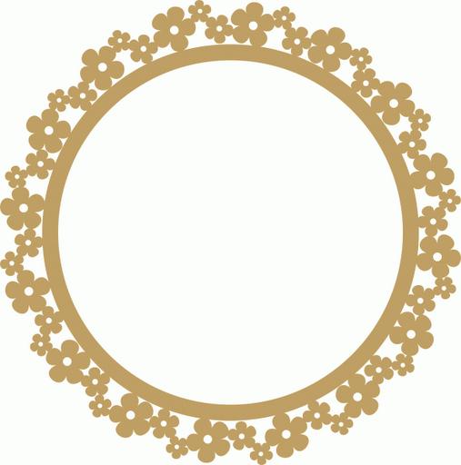 Moldura redonda dourada png 1 » PNG Image.