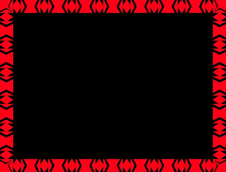 Red Border Frame Png File.