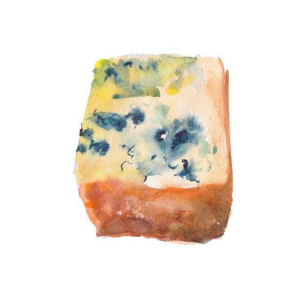 Moldy Cheese Drawing Illustrations, Royalty.