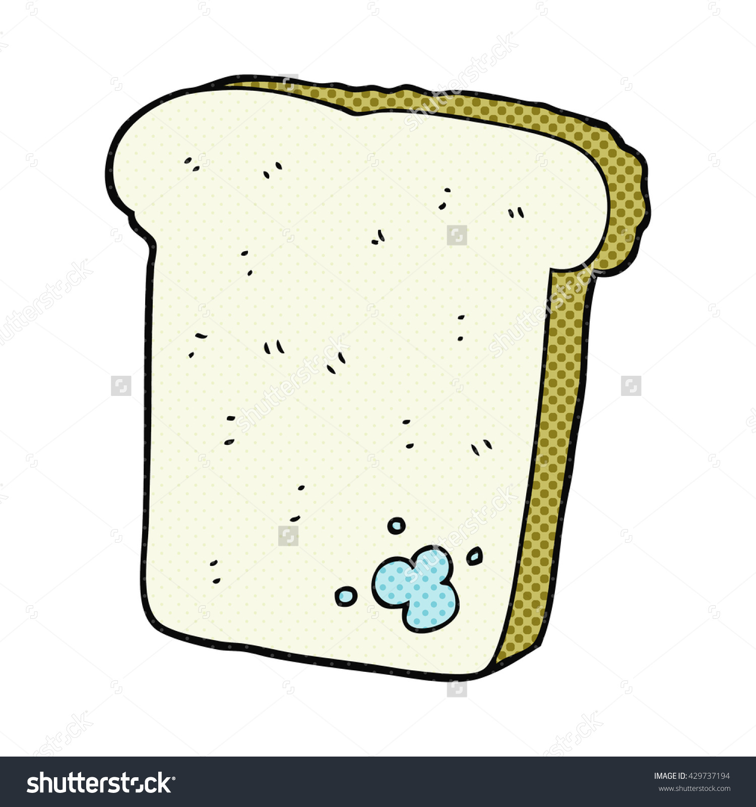 Freehand Drawn Cartoon Mouldy Bread Stock Vector 429737194.