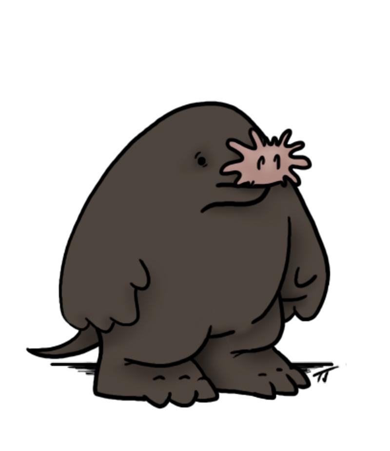 421 Mole free clipart.