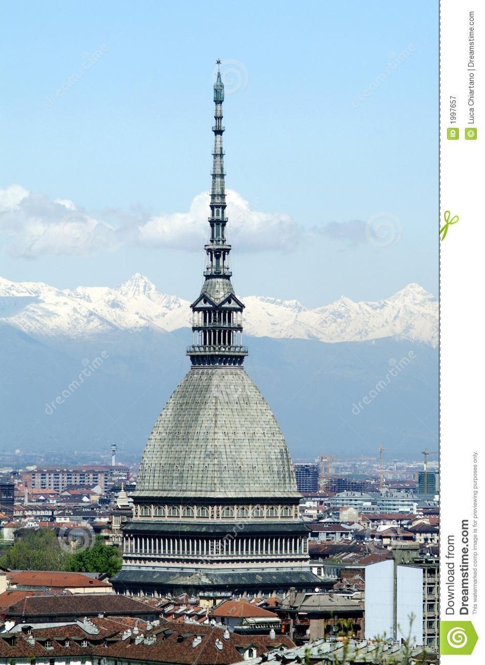 Mole Antonelliana In Turin, Italy Royalty Free Stock Photography.