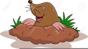Cartoon Mole Clipart.