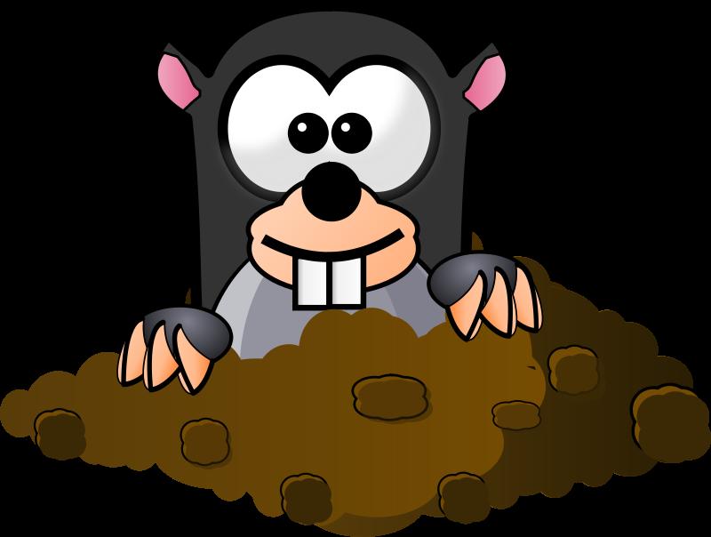 Free Clipart: Cartoon Mole.