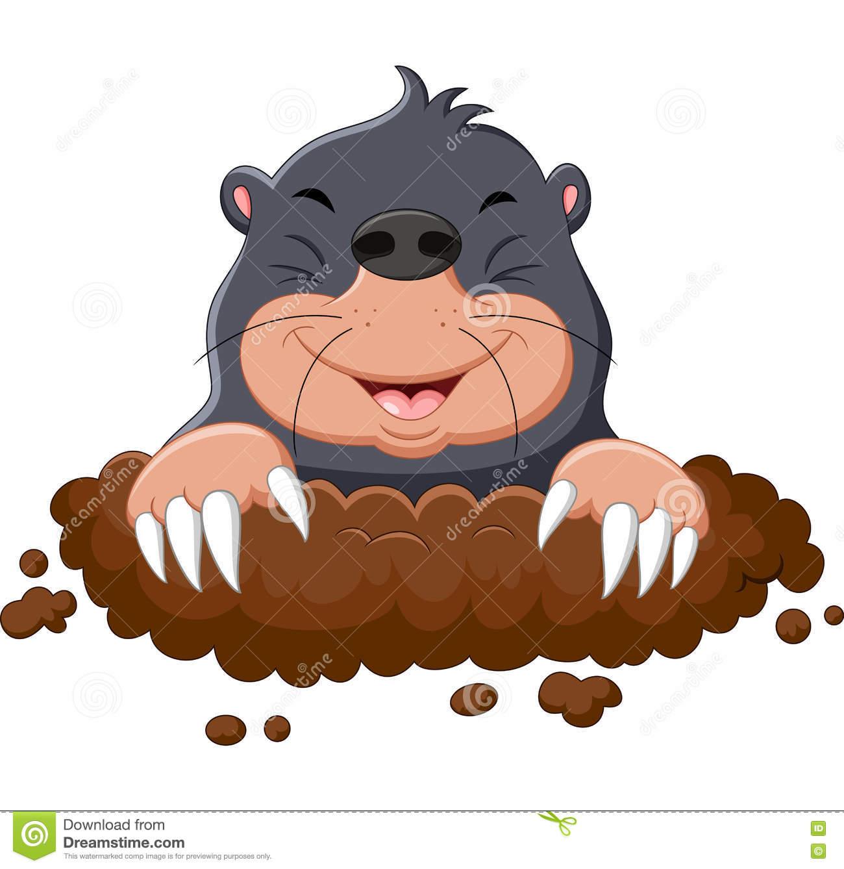 Cute Mole Clipart.