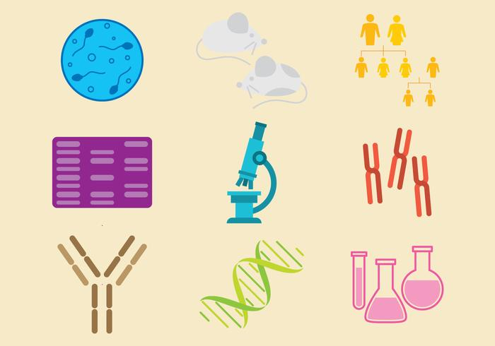 Molecular Biology Icon Vectors.