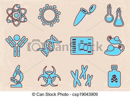 Molecular Biology Clipart.