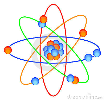 Atoms and molecules clipart.