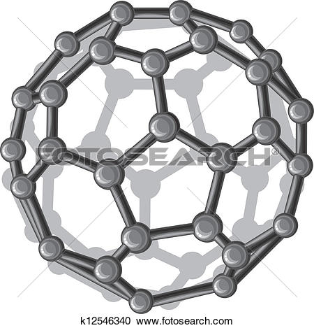 Clipart of buckyball.