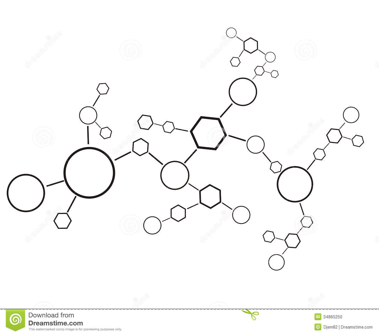 Molecule Background Stock Photo.