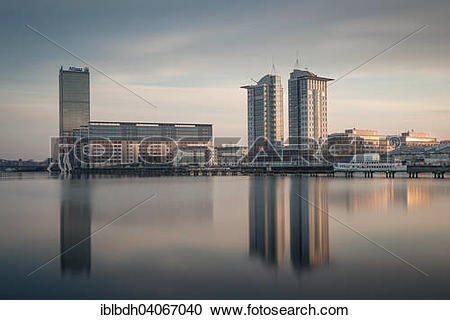 """Stock Photography of """"Allianz Tower on the River Spree, Molecule."""