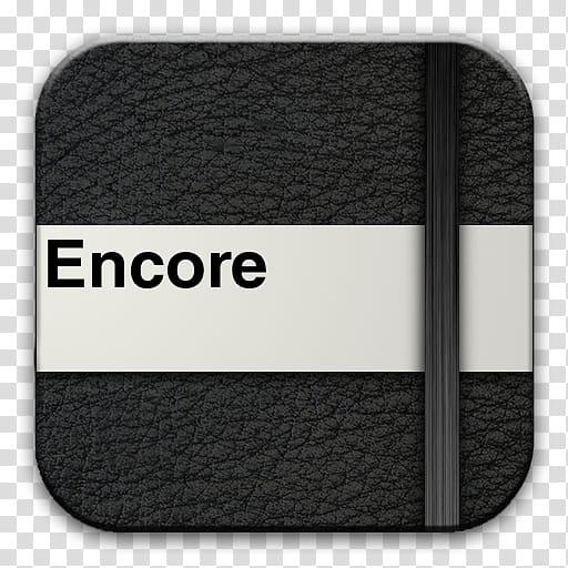 Moleskine CS Icons, encorePress transparent background PNG.