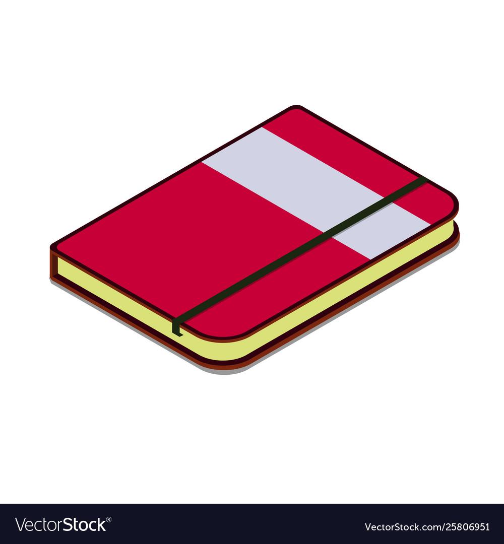 Moleskine organizer diary simple icon.