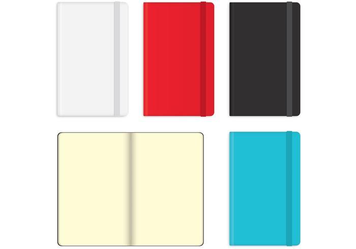 Moleskine Notebook Vectors.