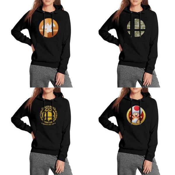 Compre Super Smash Bros Logo Mulheres Moletons Com Capuz Lã Quente Conforto  Solto Moletom Com Capuz Camuflagem Luta Clube Distintivo Mario Clipart.