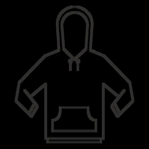Ícone de traçado de moletom com capuz.