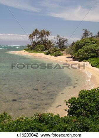 Stock Photo of Molokai, HI, Hawaii, East Molokai, Rock Point.