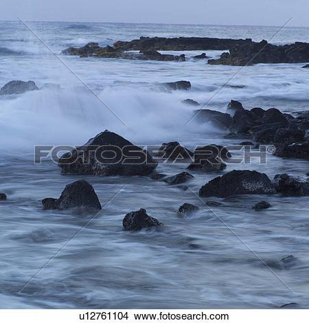 Stock Photo of Hawaiian Islands of Molokai and Kauai.
