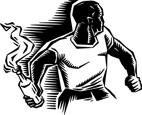 Person With Molotov Cocktail clip art Free vector in Open office.