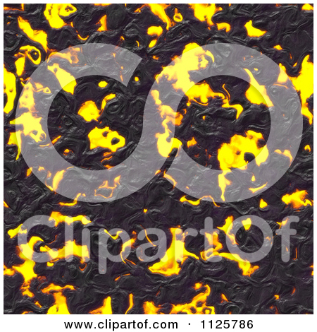 Clipart Of A Seamless Molten Lava Magma Texture Background Pattern.