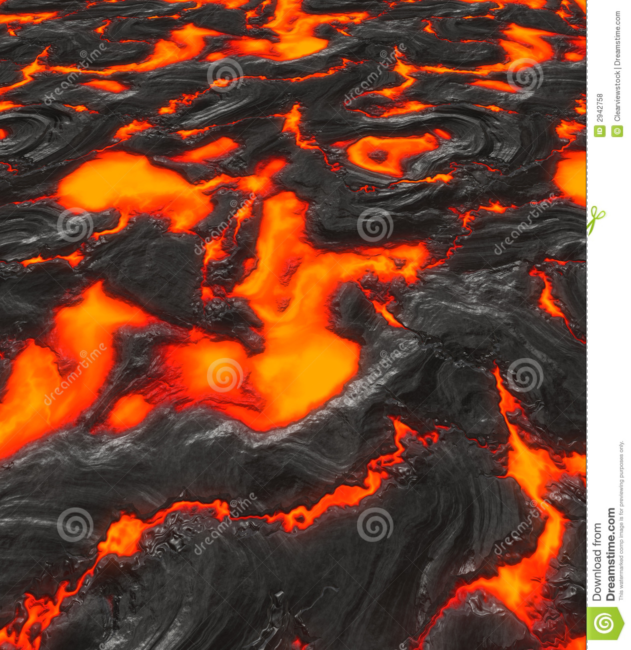 Magma Or Molten Lava Royalty Free Stock Photography.