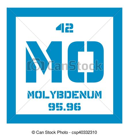 Vector Clip Art of Molybdenum chemical element. Has sixth.