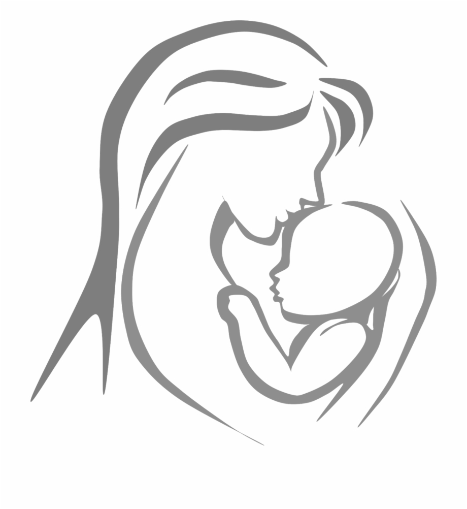 Black Mom And Child Png.