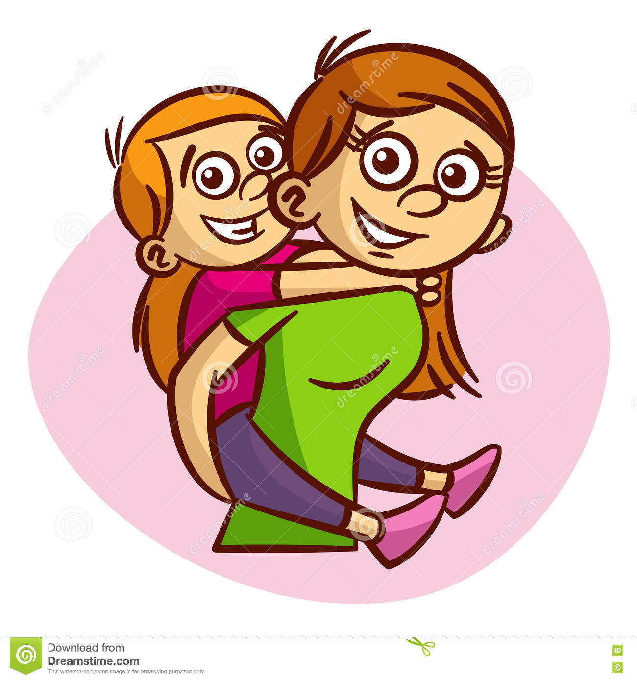 Mother And Child Having Fun Stock Vector.