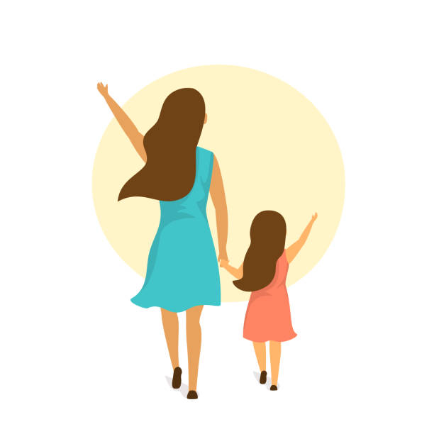 Best Mother And Daughter Illustrations, Royalty.