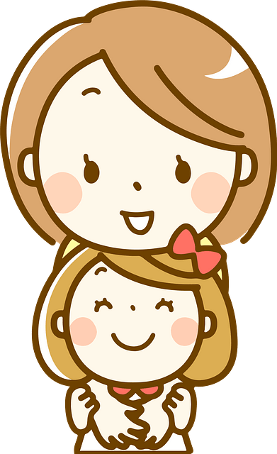 Mother and daughter hugging clipart. Free download..