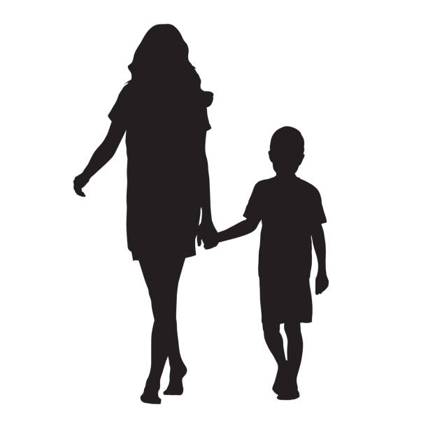 Best Mother And Son Illustrations, Royalty.