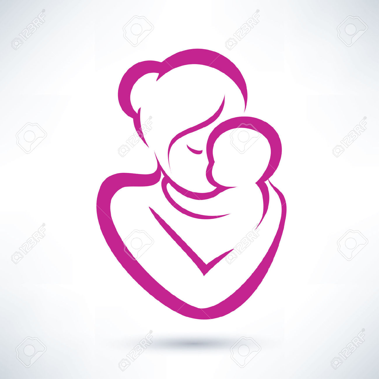 Mom and baby clipart 5 » Clipart Station.