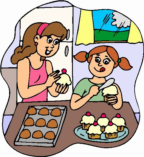 Mom Baking Clipart.